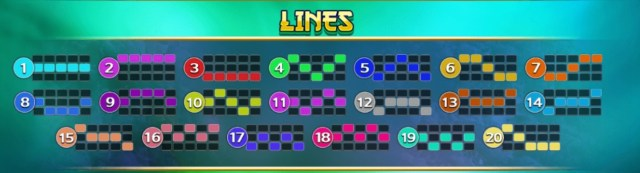 Lines ในเกมสล็อต Begua 2